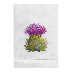 Artichoke Guest Towel - Decorate your bathroom with this cute towel that's embroidered with an artichoke.