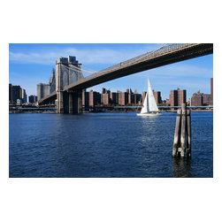 Custom Photo Factory - Brooklyn Bridge New York City USA Canvas Wall Art - Brooklyn Bridge New York City USA  Size: 20 Inches x 30 Inches . Ready to Hang on 1.5 Inch Thick Wooden Frame. 30 Day Money Back Guarantee. Made in America-Los Angeles, CA. High Quality, Archival Museum Grade Canvas. Will last 150 Plus Years Without Fading. High quality canvas art print using archival inks and museum grade canvas. Archival quality canvas print will last over 150 years without fading. Canvas reproduction comes in different sizes. Gallery-wrapped style: the entire print is wrapped around 1.5 inch thick wooden frame. We use the highest quality pine wood available. By purchasing this canvas art photo, you agree it's for personal use only and it's not for republication, re-transmission, reproduction or other use.