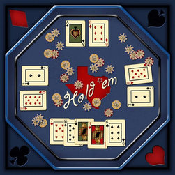 Murals Your Way - Hold'em Board Wall Art - Painted by Kate Ward Thacker, the Hold'em Board wall mural from Murals Your Way will add a distinctive touch to any room