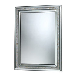 Sterling Industries - Sterling Industries DM1948 Sardis Mirror In Brushed Steel & Mother Of Pearl - Mirror (1)