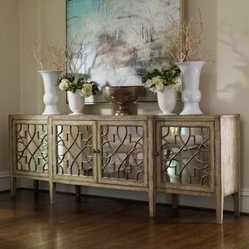 Hooker Furniture Sanctuary 105 in. 4 Door Mirrored Console