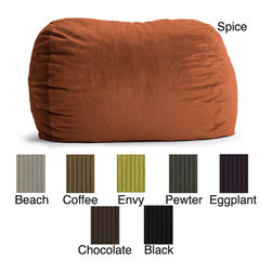Comfort Research - FufSack Wide Wale Corduroy 6-foot XL Bean Bag Chair - You'll love having this corduroy beanbag chair in your home. Available in a variety of colors, this chair is filled with polystyrene beans that keep it plush and comfortable, and it has a diameter of 72 inches, so multiple people can sit on it at once.