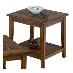 Jofran - Jofran 698-3 Baroque Brown End Table - The simplicity and elegance, style and practicality - these are the main theses of occasional tables by Jofran inc. Among the great variety of collections you can choose the one that best suits your apartment, and that is to your liking. This baroque brown square end table belongs to 698 series - baroque brown collection by Jofran inc. The classic formulas of color combinations are not valid in Jofran furniture territory: here is ruled by laws solely of your own preferences and fantasies. Huge selection of colors in combination with a wide choice of shapes and sizes allow you to find among this variety precisely the furniture you've always wanted to see in your home. Jofran furniture offers high quality, casual furniture pieces that are constructed from premium Asian hardwoods, and finished with beautiful veneers. Durable materials and quality assembly will help your furniture to serve for many years and will not let you be disappointed in your choice.