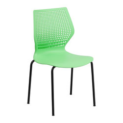 Flash Furniture - Flash Furniture Stack Chairs Plastic Stack Chairs X-GG-NG-853-TUR - This multi-purpose stack chair fits in a multitude of environments. This chair will make a great reception, meeting, office, and classroom or break room chair. The deeply curved back provides excellent comfort to your lumbar area while also providing airflow. No matter what the function this multi-use chair will bring out the best in your event. [RUT-358-GN-GG]