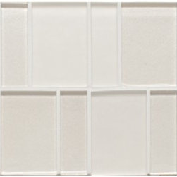 Bedrosians - Manhattan Glass Tile - Brick Offset Matte Combo, Manhattan Pearl Glass Tile - Manhattan Glass Brick Offset Tiles- Sold Per SF