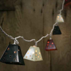 Metal Lantern Electric Party Lights, Fourth of July - This is great for a backyard Fourth of July party.
