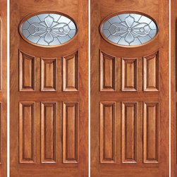 "Prehung Mahogany Oval Lite Entry Double Door Two Sidelites - SKU#    104-2-2Brand    AAWDoor Type    ExteriorManufacturer Collection    Unique Entry DoorsDoor Model    Door Material    WoodWoodgrain    MahoganyVeneer    Price    3608Door Size Options    2(30"")+2(12"") x 80"" (7'-0"" x 6'-8"")  $02(30"")+2(18"") x 80"" (8'-0"" x 6'-8"")  $02(32"")+2(12"") x 80"" (7'-4"" x 6'-8"")  $02(32"")+2(18"") x 80"" (8'-4"" x 6'-8"")  $02(36"")+2(12"") x 80"" (8'-0"" x 6'-8"")  +$402(36"")+2(18"") x 80"" (9'-0"" x 6'-8"")  +$402(42"")+2(12"") x 80"" (9'-0"" x 6'-8"")  +$3802(42"")+2(18"") x 80"" (10'-0"" x 6'-8"")  +$380Core Type    SolidDoor Style    TraditionalDoor Lite Style    Oval LiteDoor Panel Style    6 Panel , Raised MouldingHome Style Matching    Colonial , Plantation , VictorianDoor Construction    Engineered Stiles and RailsPrehanging Options    PrehungPrehung Configuration    Double Door with Two SidelitesDoor Thickness (Inches)    1.75Glass Thickness (Inches)    3/4Glass Type    Triple GlazedGlass Caming    BlackGlass Features    Insulated , TemperedGlass Style    Glass Texture    Glue ChipGlass Obscurity    Moderate ObscurityDoor Features    Door Approvals    FSCDoor Finishes    Door Accessories    Weight (lbs)    1190Crating Size    25"" (w)x 108"" (l)x 52"" (h)Lead Time    Slab Doors: 7 daysPrehung:14 daysPrefinished, PreHung:21 daysWarranty    1 Year Limited Manufacturer WarrantyHere you can download warranty PDF document."