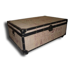 EuroLux Home - New Large Trunk Leather BG-158 - Product Details