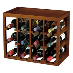 Wine Enthusiast - Stackable Cube Hardwood 12 Bottle Wine Rack - -Stack racks high and save on space, easily adjust the size and configuration of a wine collection