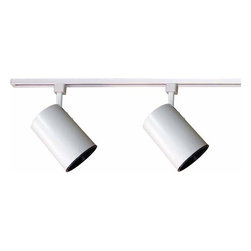 """Volume Lighting - Volume Lighting V2731 Track Light 2 Light 24"""" Track Kit with Flat Back Track Hea - Two Light 24"""" Track Kit with Flat Back Track Heads from the Track Light CollectionFeatures:"""