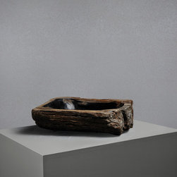 Small Petrified Wood Stone Sink - This stunning basin is expertly carved from a tree that has been petrified over millions of years into solid stone making it totally unique and utterly beautiful.