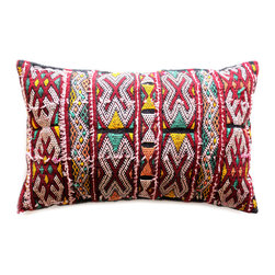 Baba Souk - One-Of-A-Kind Moroccan Pillow - Exotic hand-weaved Berber cushions. All wonderfully eccentric. Truly artistic creations. A delight for you and your interior design.