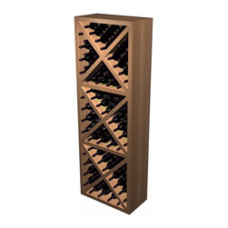 Wine Cellar Innovations - Designer Series Wine Rack - Solid Diamond Cube - The Solid Diamond Cube is a popular, attractive and sturdy wine rack. The decorative face trim adds to the sturdy appearance and is a finishing detail only previously offered on our top of the line custom racking. Each wooden wine rack is 1 column wide x 3 cubes high. Each cube is comprised of 4 quadrants holding 10 bottles each. This wine rack is offered in both an affordable veneer option, as well as a solid wood option. Product requires assembly.