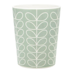 "Orla Kiely - Orla Kiely Duck Egg Melamine Linear Stem Cup - Set of 2 - Set of 2 Orla Kiely Linear Stem print melamine beaker cups. Perfect for outdoor entertaining or everyday dining. 100% melamine; BPA and Phthalate free. Dishwasher safe; not for microwave use. Measures: 3.19""d x 4""h"