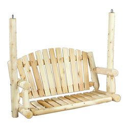 Rustic Natural Cedar - Rustic Natural Cedar 070026A Amer. Garden Swing Seat Only - - Height: 45.5""