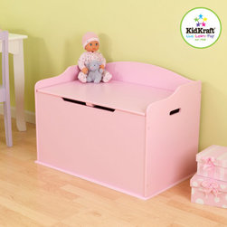 KidKraft - Austin Toy Box in Pink - Our Austin Toy Box lets kids keep all of their favorite toys in one convenient place. This sturdy toy box was built to last and would fit right in with any room setting. Features: -Austin toy box.-Material: Wood.-Safety hinge on lid protects young fingers from getting pinched.-Doubles as a bench for additional seating.-Helps keep bedrooms tidy and organized.-Smart, sturdy construction.-Color: Rose.-Collection: Austin.-Distressed: No.Dimensions: -Overall Product Weight: 34.2.Assembly: -Packaged with detailed, step-by-step assembly instructions.