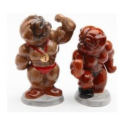 ATD - Muscular Body-Builder Dogs Flexing Themed Salt and Pepper Shaker Set - This gorgeous Muscular Body-Builder Dogs Flexing Themed Salt and Pepper Shaker Set has the finest details and highest quality you will find anywhere! Muscular Body-Builder Dogs Flexing Themed Salt and Pepper Shaker Set is truly remarkable.
