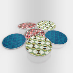 """Custom Photo Factory - Textures Effect Glass Coasters With Crystal Clarity. 6 Piece Set. - Made in the USA. Materials: Smooth tempered glass. Set includes:  (6) drink coasters. Dimensions:  3.94"""" x 3.94"""" x 3/16"""".  Image imprinted on the backside so the item on top of the coaster is never interacting with the print surface. The crystal clarity of our glass coasters delivers reliably uniform color reproductions. Crafters, artists and interior designers will find countless ways to use the features of these glass coasters. This will be the highest quality coasters you've even seen."""