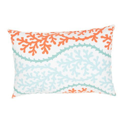 Jaipur Rugs - Jaipur Coral Splendor Indoor/Outdoor Pillow - 13 x 18 in. Multicolor - PLW101780 - Shop for Cushions and Pads from Hayneedle.com! An undersea beauty the Jaipur Coral Splendor Indoor/Outdoor Pillow - 13 x 18 in. adds delicate color and a whimsical coral pattern perfect for outdoor living space. Mix and match with other like colors for a style that won't disappoint. About JaipurJaipur features a team of over 30 designers and 40 000 skilled rug and home goods makers all of whom carry out the company's original dream of making high-quality outstanding rugs and home products based on ancient traditions.
