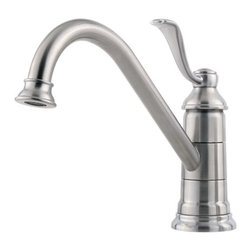 PRICE PFISTER - Lead Law Compliant 1.75 GPM Single Control Kitchen Faucet Stainless Steel - Features: