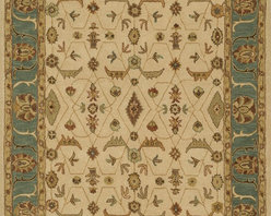 """Loloi Rugs - Loloi Rugs Maple Collection - Ivory / Sea, 2'-3"""" x 8' - Transform your home into a manor steeped in elegance and tradition with the majestic Maple Collection. These timeless Persian designs carry the rich heritage of centuries of carpet making in each arabesque, stylized flower and intricate border. Maple Collection rugs are hand-tufted in India of 100-percent wool so they are eco-friendly and mindfully crafted with sustainable materials. With colors as rich as these, you will feel like nobility every time you walk into your home."""