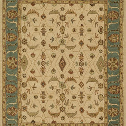 "Loloi Rugs - Loloi Rugs Maple Collection - Ivory / Sea, 2'-3"" x 8' - Transform your home into a manor steeped in elegance and tradition with the majestic Maple Collection. These timeless Persian designs carry the rich heritage of centuries of carpet making in each arabesque, stylized flower and intricate border. Maple Collection rugs are hand-tufted in India of 100-percent wool so they are eco-friendly and mindfully crafted with sustainable materials. With colors as rich as these, you will feel like nobility every time you walk into your home."