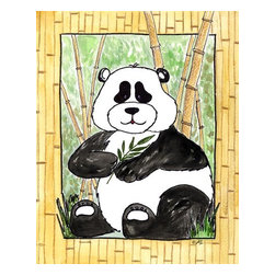 Oh How Cute Kids by Serena Bowman - Panda, Ready To Hang Canvas Kid's Wall Decor, 8 X 10 - Every kid is unique and special in their own way so why shouldn't their wall decor be so as well! With our extensive selection of canvas wall art for kids, from princesses to spaceships and cowboys to travel girls, we'll help you find that perfect piece for your special one.  Or fill the entire room with our imaginative art, every canvas is part of a coordinating series, an easy way to provide a complete and unified look for any room.