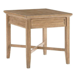 Lexington - Lexington Monterey Sands Fair Oaks Lamp Table - Light and airy, the x-stretcher base supports the mantra that less is more. However, the single drawer is ideal for keeping remotes, favorite books, or the latest magazine within reach yet out of sight. The louvered panel is visible on all four sides.
