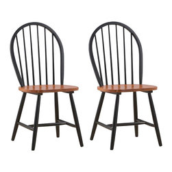 Boraam - Boraam Farmhouse Wood Dining Side Chair in Black and Cherry (Set of Two) - Boraam - Dining Chairs - 31516 - Boraam's high quality products are well styled and priced right. Benefitting from years of experience in the industry, Boraam knows what you look for in quality furniture, and takes pride in getting orders out as diligently as possible. Feel confident that Boraam will take your living space to another level.