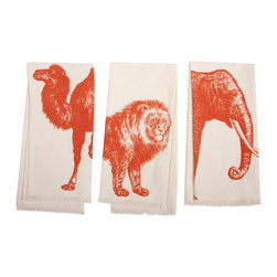 Thomas Paul - Bazaar Hand Towel, Set of 3 - Bold and graphic; these are words often used to describe crazy uncles and women's fashion, but they are also the perfect words to describe the textile collection of design industry darling Thomas Paul. His prints are the perfect addition to any space needing a splash of character.