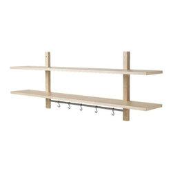 Mikael Warnhammar - VÄRDE Wall shelf with 5 hooks - Wall shelf with 5 hooks, birch