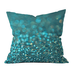 DENY Designs - Lisa Argyropoulos Aquios Throw Pillow - Wanna transform a serious room into a fun, inviting space? Looking to complete a room full of solids with a unique print? Need to add a pop of color to your dull, lackluster space? Accomplish all of the above with one simple, yet powerful home accessory we like to call the DENY throw pillow collection!