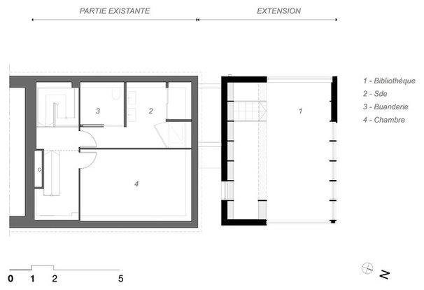 architecture le cube une extension d di e la lecture. Black Bedroom Furniture Sets. Home Design Ideas