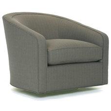 Nash Swivel Glider Chair in Fabric