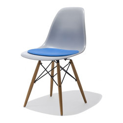 Industry West - Lucia Cushion, Blue - Add a pop of color and a little cush to our favorited Lucia Chair. This velour seat pad rests easily on our Lucia Chair, Lucia Arm Chair, Lucia Bar Stool, and Lucia Rocking Chair.