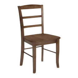 International Concepts - International Concepts Madrid Ladderback Dining Side Chair in Oak (set of 2) - International Concepts - Dining Chairs - C042P