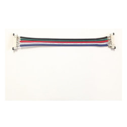 EnvironmentalLights - rf5-jumper-12 Connector-5 Conductor 12 mm Ribbon to Ribbon Jumper - About 4 inches long.