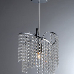 Warehouse of Tiffany - Ann Crystal Chandelier - Bring a hint of sophistication to your room with this decorative crystal chandelier light. This hard-wired one-light chandelier features strands of glass beads for a unique presentation. It comes with three feet of wire for versatile installation.