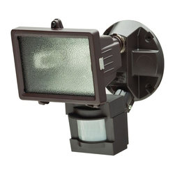 Defiant - Defiant Flood Lights 110 Degree Outdoor Bronze Motion Security Light - Shop for Lighting & Ceiling Fans at The Home Depot. The 110 Degree Outdoor Motion Security Light is perfect for patio and entryway areas. The light has an adjustable swivel arm to allow directional lighting hinged cover for easy bulb replacement access and adjustable range up to 70 ft. This powerful light has a 150 watt Halogen bulb (included).