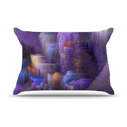 "Kess InHouse - Michael Sussna ""Purple Mountain Majesty"" Purple Pillow Case, King (36"" x 20"") - This pillowcase, is just as bunny soft as the Kess InHouse duvet. It's made of microfiber velvety fleece. This machine washable fleece pillow case is the perfect accent to any duvet. Be your Bed's Curator."