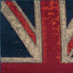 Oriental Weavers - kaleidoscope union jack carpet (8x11) - The kaleidoscope collection is cross-woven of polypropylene and boasts up to 65 colors per rug. Designs showcase a dramatic array of bright, vibrant colors such as sunshine yellow, tangerine, hot pink and bright poppy while ultramarine blue, citron and chartreuse round out the assortment giving the playful colors more drama. In this collection more is definitely more; shade upon shade, texture upon texture, it offers an antiqued yet modern aesthetic.