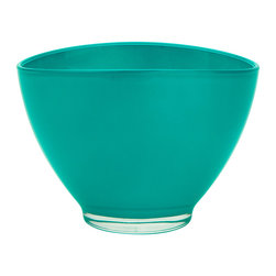 Kansas Oval Bowl, Teal - The Kansas oval bowl a great go-to bowl for salads, dips and desserts. it comes a range of colors to match your tablescape.