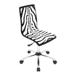 Computer Chair, Black/White