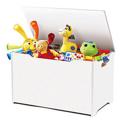 Tot Tutors Toy Box - There's nothing like a classic toy box to keep your little one's toys tidy. I think it would be great to keep only what fits in the chest. Simplify!
