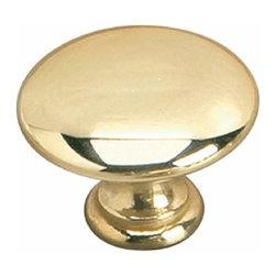 Richelieu Hardware - Richelieu Povera  Contemporary Brass Knob 35mm Brass - Richelieu Povera  Contemporary Brass Knob 35mm Brass