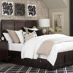Ruched Ivory Quilt by Bassett Furniture - Pricing is for Ivory quilt shown only. Available in Twin, Queen, King, and Over Size King. Khaki quilt shown is sold separately.