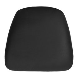 Flash Furniture - Flash Furniture Hard Black Vinyl Chiavari Cushion for Wood Chiavari Bar Stools - Hard cushions are the most popular choice in the Rental and Event industry offering firm support. Velcro strips underneath cushion secures cushion to the seat.