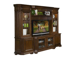 Riverside Furniture - Riverside Cantata 48 Inch TV Console Entertainment Center - Riverside Furniture - Entertainment Centers - 4940/1/5/6/7/8Kit - With a traditional appeal and superb craftsmanship our Cantata theater collection adds style and comfort to your entertainment possibilities.