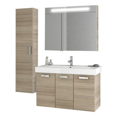 ACF - 40 Inch Larch Canapa Bathroom Vanity Set - This Italian made vanity was designed for your master bathroom.