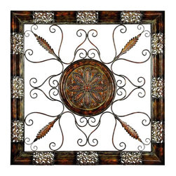 Benzara - Metal Wall Plaque - Wall decor with great decor sense. Support your existing wall decor with 89995 Metal WALL Plaque. It is an excellent anytime low priced wall decor upgrade option for everyone. Just have a look over this rectangular wall plaque, you will fall in instant love with its beauty.
